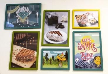 that waffle place ambiance